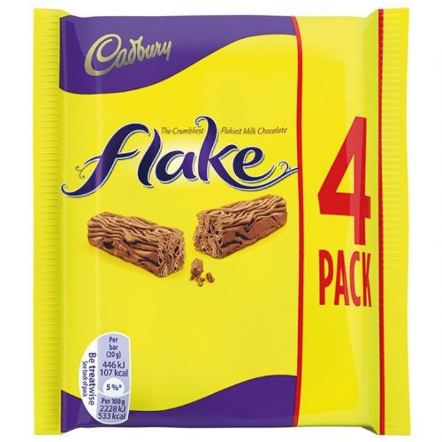 Cadbury Flake Chocolate Bar 4 Pack 80g ( UK )